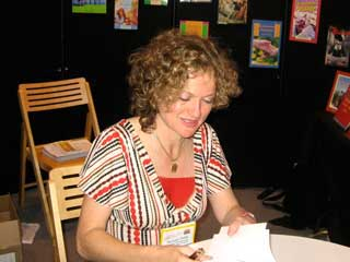 Monique Polak at a book signing